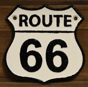 Vintage Style Route 66 Signs Cast Iron Gas Station Garage Man Cave