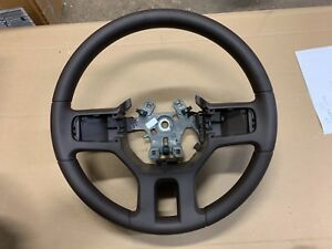 New Oem 2011 2012 Dodge Ram Steering Wheel 1ps45gtvac Brown Non Leather