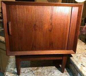 Danish Modern Teak Night Stand End Table By Falster Mid Century