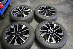 Set Honda Civic 2014 2015 2016 16 Oem Rims Wheels Tires 205 55r16 91h 3517