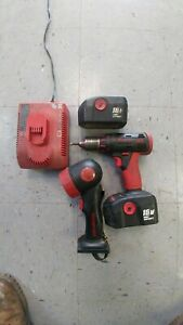 Snap On Drill And Light 2 Batts 1 Charger