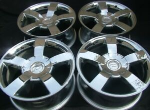 Set Of 4 Chevy Silverado Gmc Sierra 1500 Oem 20 Chrome Wheels 2003 2007