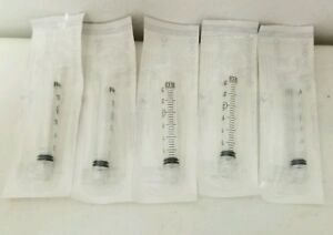 1 Case 800 3cc Luer Lock Tip Syringes 3ml Sterile Syringe No Needle Bd 309657