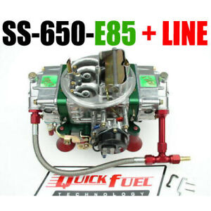 Quick Fuel Ss 650 e85 650 Cfm Mech Carb With Choke And 6 Fuel Line Kit New