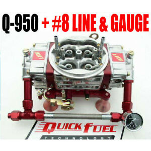 Quick Fuel Q 950 Technology 950 Cfm Drag Race Mech Gas With Red 8 Fuel Line