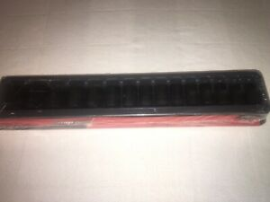 Snap On Socket Set 1 2 Drive Metric Shallow Impact 6 Point With Socket Tray