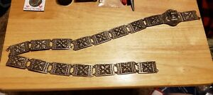 Vtg Rare Sterling Silver 925 Dragon Belt Indonesia Ladies Scrap Or Not 178 Grams