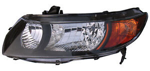 2006 2009 Honda Civic Coupe Non si Driver Left Side Headlight Lamp Assembly