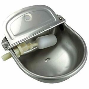 Stainless Steel Automatic Waterer Bowl Horse Cattle Goat Sheep Pig Dog Float Pet