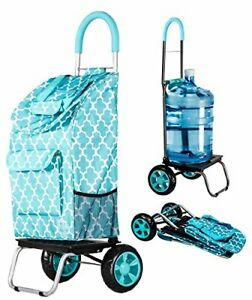 Trolley Dolly Moroccan Tile Shopping Grocery Foldable Cart