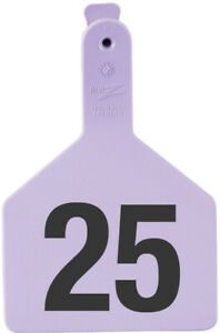 Z Tags Cow Ear Tags Purple Numbered 151 175