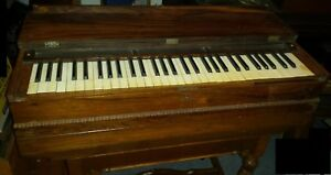 1846 Improved Melodian Rosewood Travelling Organ By Prince 6485 Vintage Antique