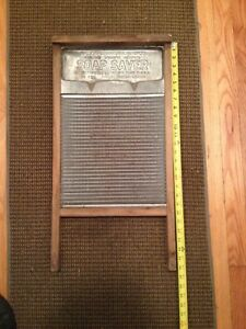 Antique National Soap Saver Washboard Tin Surface Laundry Room Washing Vintage