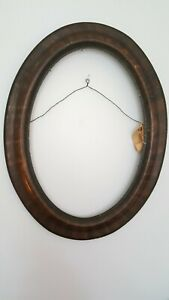 Antq Tiger Wooden Oval Picture Frame Late 1800s Early 1900s No Glass 18 5 X24 5