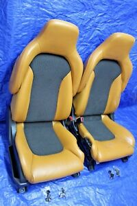 03 08 Nissan 350z Oem Roadster Tan Leather Seats Pair Driver Passenger