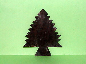 Primitive Early 18th C Style Mini Tin Evergreen Christmas Tree Quilting Template