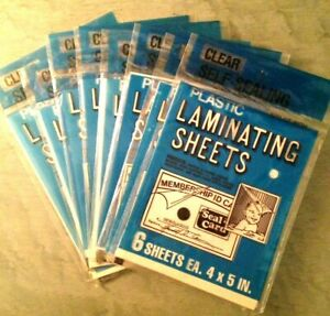 8 Packs seal A Card Plastic Laminating Sheets Pkg Of 6 Sheets 48 Sheets Total