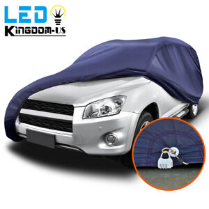 16ft Full Car Cover Waterproof Sun Uv Rain Snow Wind Dust Resistant Protection