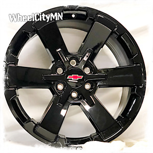 22 Inch Gloss Black 2018 Chevy Silverado Rally Oe Replica 5662 Wheels 6x5 5 24
