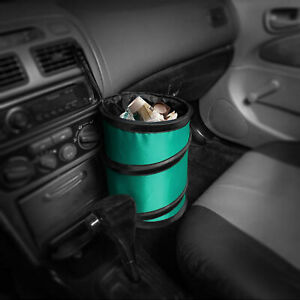 Auto Car Trash Can Portable Collapsible Waterproof Small Mint