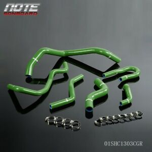 Silicone Radiator Hose Kit Green For Honda Civic 1 6l Sohc D15 D16 Eg Ek 1992 00