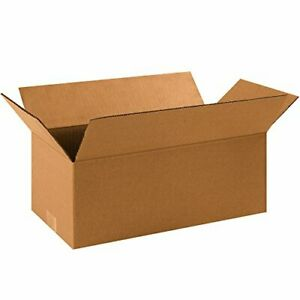 Partners Brand P1686 Long Corrugated Boxes 16 l X 8 w X 6 h Kraft pack Of 25