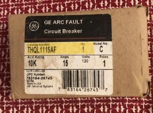 General Electric Ge thql1115af 1 Pole 15a Arc Fault Circuit Breakers 120vac