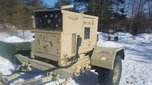 Libby Mep 802a 5kw Tqg Tactical Military Diesel Generator 60hz M116a3 Trailer