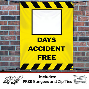 Half Price Banners Blank Days Accident Free Banner Heavy Duty Outdoor In