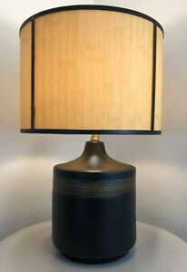Vintage Mid Century Danish Modern Brutalist Contemporary Ceramic Beehive Lamp