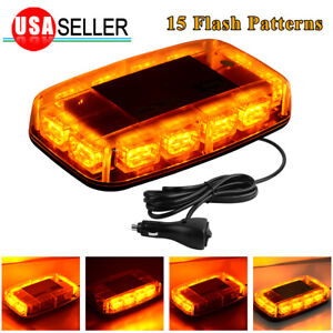 Rooftop Strobe Light Bar 36 Led Security System Emergency Beacon Amber Yellow