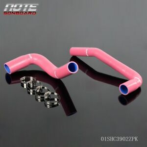 Silicone Radiator Hose Pipe Kit For Jeep Wrangler Yj Tj 2 4 4 2l 1987 2006 Pink