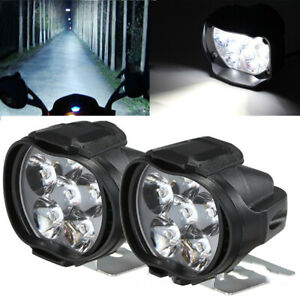 2pcs Led External Lights Headlight Spotlight Lamp Car Bike Motorcycle Waterproof