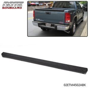 Fit For 07 14 Silverado Sierra 1500 Black Tailgate Moulding Top Protector Cover