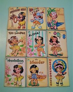 Vintage 1940s 1950s Hawaiian Tiki Retro Gift Price Tags Cards And Stickers