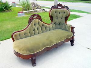 Wonderful Mahogany Empire Victorian Lounge Recamier Sofa Circa 1850