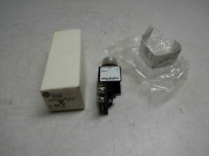 Allen Bradley 800mr a2ak Ser C Small Pushbutton Flush Head Black Cap 1 N o 1 N c