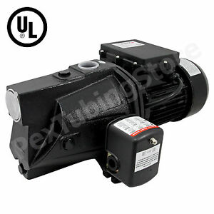 1 2 Hp Shallow Well Jet Pump W Pressure Switch 115 230v Dual Voltage Ul