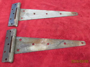 Lot Of 2 Barn T Strap Hinges Door Shed Gate Huge 18 X 8 Used Rustic Nice