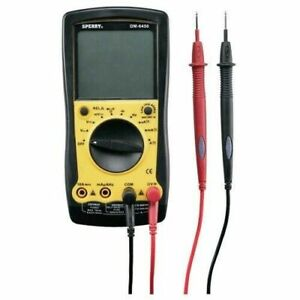 Sperry Digital Multimeter Auto Range 9 Function Electrical Tester