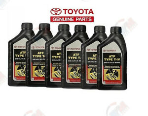 Genuine Toyota Lexus Atf Type T iv Automatic Transmission Fluid Oem 6 Quarts