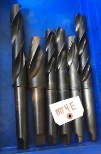 6pc Morse Taper 4 Mt Taper Shank Bit Lot Mt4e Metal Lathe Radial Drill Mill Tool