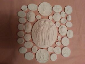 Grand Tour Cameos Intaglios Gems Medallion Plaster 36 Seals Tassies Coins Europe