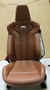 2014 2017 Bmw F82 M4 Coupe Front Left Driver Side Seat Leather Brown Oem A9674
