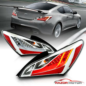 For 2010 2011 2012 2013 2014 2015 2016 Hyundai Genesis Coupe Led Tail Lights Set