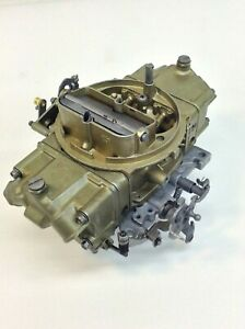 Holley Double Pumper Carburetor 4777 4 Bbl 650 Cfm Manual Choke Mech Secon