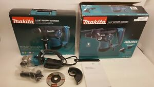 Makita Hr2811fx 1 1 8 inch Rotary Hammer And 4 1 2 inch Angle Grinder