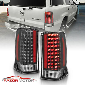 2002 2003 2004 2005 2006 Led Black Brake Tail Lights Pair For Cadillac Escalade
