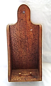 Antique Vintage Country Primitive Wormwood Candle Holder Sconce Wall Shelf
