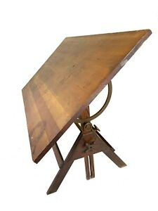 Rare Antique Industrial Dietzgen Drafting Table